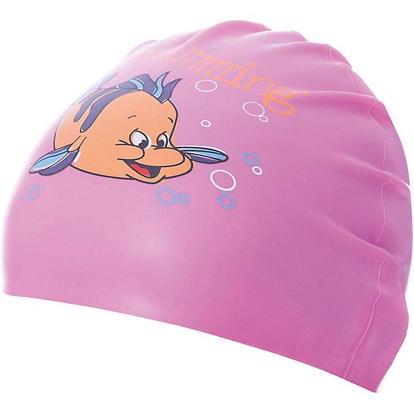 Dobest Силиконовая шапочка для плавания Dobest, с рисунком, розовая