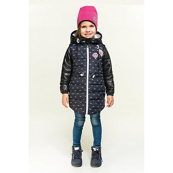 Куртка BOOM by Orby для девочкиВерхняя одежда<br>Характеристики товара:<br><br>• цвет: черный принт  глаза / серый меланж/ черный;<br>• ткань верха: футер с начесом петельный (60% ПЭ, 40% хлопок); tаффета oil cire pu (100% ПЭ);<br>• подкладка: ПЭ пуходержащий (100% ПЭ);<br>•  утеплитель: Flexy Fiber 100 г/м2; Flexy Fiber 80 г/м2<br>• сезон: демисезон;<br>• температурный режим: от -5 до +10°С;<br>• эластичные манжеты;<br>• эластичная утяжка на рукавах жилетки;<br>• два кармана на куртке и на жилетке;<br>• регулируемая талия на шнурке; <br>• высокая горловина;<br>• особенности: на молнии, принт, нашивка на груди;<br>• тип куртки: 3 в 1;<br>• модель: удлиненная;<br>• капюшон: несъемный;<br>• страна бренда: Россия.<br><br>Удлиненная куртка 3 в 1 BOOM by Orby для девочки из новой коллекции выполненна в актуальном и практичном цвете, с добавлением веселого принта. В одной модели - сразу три вещи: тёплая куртка, удлиненная жилетка и толстовка из футера петельного с рукавами из ткани верха. Тепло, стильно и комфортно! Гипоаллергенный утеплитель защитит в прохладную погоду. Модель обязательно станет любимицей детей и родителей, ведь в неё сочетаются стиль, доступность и практичность. С таким комплектом можно придумать бесчисленное количество образов как для прогулки, так и для школы, сада.<br><br>Удлиненную куртку 3 в 1 BOOM by Orby (Бум бай Орби) для девочки можно купить в нашем интернет-магазине.<br>Ширина мм: 356; Глубина мм: 10; Высота мм: 245; Вес г: 519; Цвет: черный; Возраст от месяцев: 24; Возраст до месяцев: 36; Пол: Женский; Возраст: Детский; Размер: 98,158,152,146,140,134,128,122,116,110,104; SKU: 7708501;