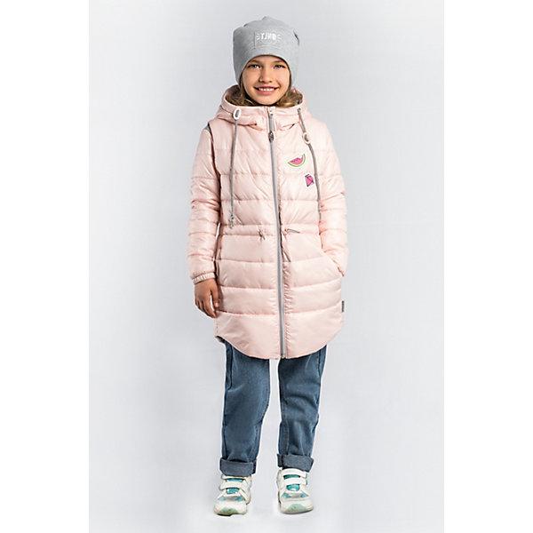 Куртка BOOM by Orby для девочкиВерхняя одежда<br>Характеристики товара:<br><br>• цвет: персиковый/ серый меланж/ персиковый;<br>• ткань верха: футер с начесом петельный (60% ПЭ, 40% хлопок); tаффета oil cire pu (100% ПЭ);<br>• подкладка: ПЭ пуходержащий (100% ПЭ);<br>•  утеплитель: Flexy Fiber 100 г/м2; Flexy Fiber 80 г/м2<br>• сезон: демисезон;<br>• температурный режим: от -5 до +10°С;<br>• эластичные манжеты;<br>• эластичная утяжка на рукавах жилетки;<br>• два кармана на куртке и на жилетке;<br>• регулируемая талия на шнурке; <br>• высокая горловина;<br>• особенности: на молнии, принт, нашивка на груди;<br>• тип куртки: 3 в 1;<br>• модель: удлиненная;<br>• капюшон: несъемный;<br>• страна бренда: Россия.<br><br>Удлиненная куртка 3 в 1 BOOM by Orby для девочки из новой коллекции выполненна в актуальном и практичном цвете. В одной модели - сразу три вещи: тёплая куртка, удлиненная жилетка и толстовка из футера петельного с рукавами из ткани верха. Тепло, стильно и комфортно! Гипоаллергенный утеплитель защитит в прохладную погоду. Модель обязательно станет любимицей детей и родителей, ведь в неё сочетаются стиль, доступность и практичность. С таким комплектом можно придумать бесчисленное количество образов как для прогулки, так и для школы, сада.<br><br>Удлиненную куртку 3 в 1 BOOM by Orby (Бум бай Орби) для девочки можно купить в нашем интернет-магазине.<br>Ширина мм: 356; Глубина мм: 10; Высота мм: 245; Вес г: 519; Цвет: бежевый; Возраст от месяцев: 24; Возраст до месяцев: 36; Пол: Женский; Возраст: Детский; Размер: 98,158,152,146,140,134,128,122,116,110,104; SKU: 7708513;