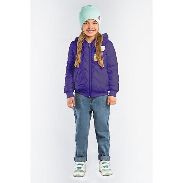 Демисезонная куртка BOOM by OrbyКуртки<br>Характеристики товара:<br><br>• ткань верха: тафетта (100% ПЭ);<br>• отделка: вязаное полотно;<br>• подкладка: поликоттон; ПЭ пуходержащий (90% хлопок, 10% ПЭ);<br>• утеплитель: Flexy Fiber 100 г/м2;<br>• сезон: демисезон;<br>• температурный режим: от -5 до +10°С;<br>• эластичные манжеты;<br>• два кармана;<br>• дополнительная утяжка по низу изделия; <br>• особенности: на молнии, принт, нашивки на груди;<br>• тип куртки: бомбер, стеганая;<br>• капюшон: несъемный;<br>• страна бренда: Россия.<br><br>Стеганая куртка-бомбер BOOM by Orby для девочки выполнена из практичной и износостойкой ткани, в актуалных цветах сезона. Оригинальная стёжка и забавные аппликации - сделают куртку любимой вещью маленькой модницы. Гипоаллергенный утеплитель защитит в прохладную погоду. Модель обязательно станет любимицей детей и родителей, ведь в неё сочетаются стиль, доступность и практичность. Идеально сочетается с вещами в стиле casual: джинсы или брюки чинос, полуботинки и шапки-бини.