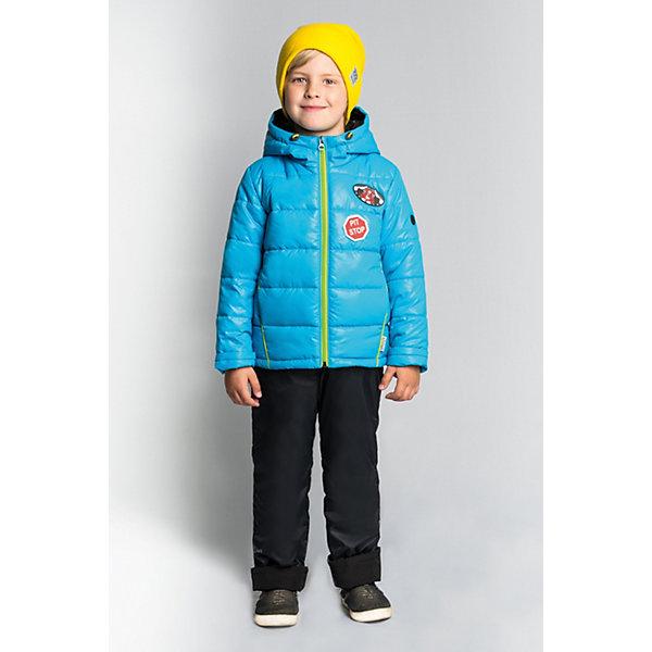 Комплект BOOM by Orby: куртка и полукомбинезонКомплекты<br>Характеристики товара:<br><br>• ткань верха (куртка): болонь pu (100% ПЭ);<br>• ткань верха (п/комбинезон): таффета pu milky (100% ПЭ);<br>• подкладка (куртка): поликоттон; ПЭ пуходержащий (90% хлопок, 10% ПЭ);<br>• подкладка (п/комбинезон): флис; ПЭ пуходержащий (70% вискозак, 30% ПЭ);<br>• утеплитель: Flexy Fiber 150 г/м2;<br>• сезон: демисезон;<br>• температурный режим: от -5 до +10°С;<br>• высокая горловина;<br>• нашивки на груди;<br>• принт на спине;<br>• светоотражающие элементы;<br>• эластичные манжеты;<br>• два кармана;<br>• манжеты-отвороты;<br>• тип куртки: стеганая;<br>• капюшон: съемный, утяжка на шнурке;<br>• страна бренда: Россия.<br><br>Комплект: куртка и полукомбинезон BOOM by Orby для мальчика выполнен из практичной, качественной и износостойкой ткани, болонь и таффета с водоотталкивающими пропитками. Идеален на межсезонье, в актуальных цветах с темой гонок в дизайне. Манженты-отвороты на курточке и брючках помогут комплекту прослужить не один сезон. Гипоаллергенный утеплитель куртки защитит в прохладную погоду. Комплект подойдет и для прогулок и для школы/сада.