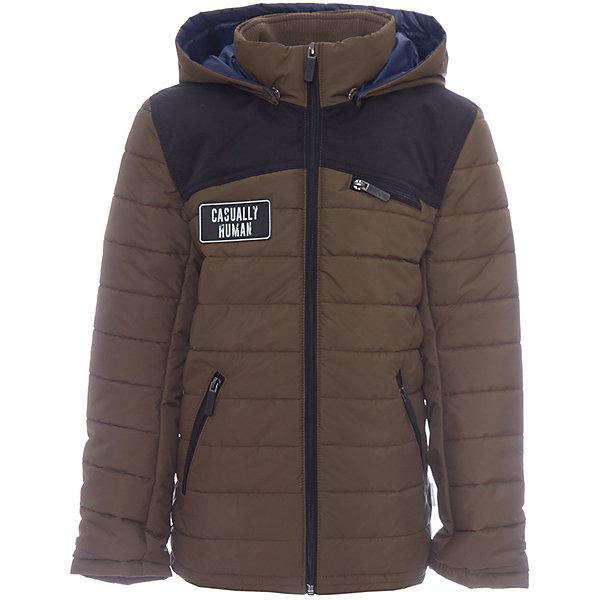 Куртка BOOM by Orby для мальчикаВерхняя одежда<br>Характеристики товара:<br><br>• цвет: хакки/черный;<br>• ткань верха: таффета матовая и стеганая (100% ПЭ);<br>• отделка: таслан pu milky (100% ПЭ);<br>• подкладка: Поликоттон; ПЭ пуходержащий (90% хлопок, 10% ПЭ);<br>• утеплитель: Flexy Fiber 100 г/м2;<br>• сезон: демисезон;<br>• температурный режим: от -5 до +10°С;<br>• эластичные манжеты;<br>• два кармана;<br>• особенности: на молнии, принт, вставки на плечах и локтях;<br>• тип куртки: стеганая;<br>• капюшон: несъемный;<br>• страна бренда: Россия.<br><br>Классическая стеганная куртка BOOM by Orby для мальчика выполнена из практичной и износостойкой ткани с оригинальными дизайнерскими элементами, в актуалных цветах сезона. Гипоаллергенный утеплитель защитит в прохладную погоду. Модель обязательно станет любимицей детей и родителей, ведь в неё сочетаются стиль, доступность и практичность. Идеальный вариант для школы, сочетаеммый с большим количеством одежды и стилей.<br><br>Стеганную куртку BOOM by Orby (Бум бай Орби) для мальчика можно купить в нашем интернет-магазине.<br>Ширина мм: 356; Глубина мм: 10; Высота мм: 245; Вес г: 519; Цвет: хаки; Возраст от месяцев: 144; Возраст до месяцев: 156; Пол: Мужской; Возраст: Детский; Размер: 158,98,170,164,152,146,140,134,128,122,116,110,104; SKU: 7708866;