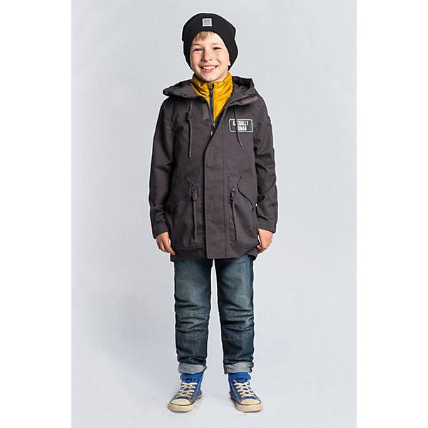 Куртка-парка BOOM by Orby для мальчикаВерхняя одежда<br>Характеристики товара:<br><br>• цвет: графит/горчичный;<br>• ткань верха: хлопок 100%;<br>• подстежка: пуходержащий ПЭ (100% ПЭ);<br>• утеплитель: Flexy Fiber 100 г/м2 (100% ПЭ);<br>• сезон: демисезон;<br>• температурный режим: от +5°С;<br>• высокая горловина;<br>• два боковых кармана;<br>• нашивка на груди;<br>• особенности: на молнии, регулировка по талии;<br>• тип куртки: парка;<br>• капюшон: с утяжкой на шнурке, несъемный;<br>• страна бренда: Россия.<br><br>Куртка-парка BOOM by Orby для мальчика -  универсальный вариант для межсезонья.  Стильная хлопковая куртка-парка для мальчика с подстёжкой. Одна модель на любую погоду: с подстёжкой на прохладную и ветреную, без подстёжки - на тёплую весеннюю или летнюю. Модель создана специально так, чтобы подходить к любому стилю: деловому, спортивному, casual. Модный дизайн и комфорт непримерно понравятся вашему ребенку. <br><br>Куртку-парку BOOM by Orby для мальчика можно купить в нашем интернет-магазине.<br>Ширина мм: 356; Глубина мм: 10; Высота мм: 245; Вес г: 519; Цвет: серый; Возраст от месяцев: 24; Возраст до месяцев: 36; Пол: Мужской; Возраст: Детский; Размер: 98,170,164,158,152,146,140,134,128,122,116,110,104; SKU: 7708906;