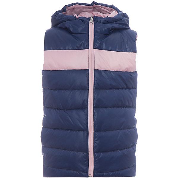 Жилет BOOM by Orby для девочкиВерхняя одежда<br>Характеристики товара:<br><br>• цвет: св.розовый/ т.синий;<br>• ткань верха с двух сторон: tаффета oil cire pu (100 % ПЭ);<br>• утеплитель: Flexy Fiber 150 г/м2;<br>• сезон: демисезон;<br>• температурный режим: от -5 до +10°С;<br>• эластичные манжеты;<br>• два кармана;<br>• контрастная молния; <br>• особенности: двусторонняя заниженнная модель;<br>• тип: стеганый;<br>• капюшон: несъемный, утяжка на шнурке;<br>• страна бренда: Россия.<br><br>Жилет BOOM by Orby для девочки выполнена из практичной и износостойкой ткани, в актуалных цветах сезона. Лёгкий и яркий двусторонний жилет. Две вещи по цене одной! Гипоаллергенный утеплитель и заниженная модель защитит в прохладную погоду. Идеально сочетается с вещами в стиле casual: джинсы или брюки чинос, полуботинки и шапки-бини. Подойдет для активных игр и прогулок, а также для повседненой носки. <br><br>Жилет BOOM by Orby (Бум бай Орби) для девочки можно купить в нашем интернет-магазине.<br>Ширина мм: 356; Глубина мм: 10; Высота мм: 245; Вес г: 519; Цвет: розовый; Возраст от месяцев: 18; Возраст до месяцев: 24; Пол: Женский; Возраст: Детский; Размер: 140,134,128,122,116,110,104,98,92,158,152,146; SKU: 7709003;
