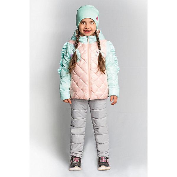Комплект BOOM by Orby для девочкиВерхняя одежда<br>Характеристики товара:<br><br>• цвет: мятный/ персиковый/ серый;<br>• ткань верха (куртка): таффета oil cire pu; таффета pu milky (100% ПЭ);<br>• ткань верха (брюки):  таффета pu milky (100% ПЭ);<br>• подкладка (куртка): поликоттон; ПЭ пуходержащий (90% хлопок, 10% ПЭ);<br>• подкладка (брюки): поликоттон; ПЭ пуходержащий (90% хлопок, 10% ПЭ);<br>• утеплитель (куртка): Flexy Fiber 150 г/м2;<br>• утеплитель (брюки): Flexy Fiber 80 г/м2;<br>• сезон: демисезон;<br>• температурный режим: от -5 до +10°С;<br>• рюши на руковах;<br>• эластичные манжеты;<br>• два кармана;<br>• наличие манжетов-отворотов (куртка и брюки);<br>• тип куртки: стеганая;<br>• капюшон: съемный;<br>• страна бренда: Россия.<br><br>Комплект: куртка и брюки BOOM by Orby для девочки выполнен качественной и износостойкой ткани. Гипоаллергенный утеплитель куртки защитит в прохладную погоду. Нежный и теплый комплект для девочки в романтическом стиле. Особую изюминку модели придают рюши на рукавах, похожие на гриву единорога, и  конфетные  оттенки цвета. Благодаря наличию манжетов-отворотов на курточке и брючках, комплект прослужит не один сезон.   Комплект подойдет и для прогулок и для школы/сада. <br><br>Комплект: куртку и брюки BOOM by Orby для девочки можно купить в нашем интернет-магазине.<br>Ширина мм: 356; Глубина мм: 10; Высота мм: 245; Вес г: 519; Цвет: зеленый; Возраст от месяцев: 12; Возраст до месяцев: 18; Пол: Женский; Возраст: Детский; Размер: 86,110,104,98,92; SKU: 7709040;