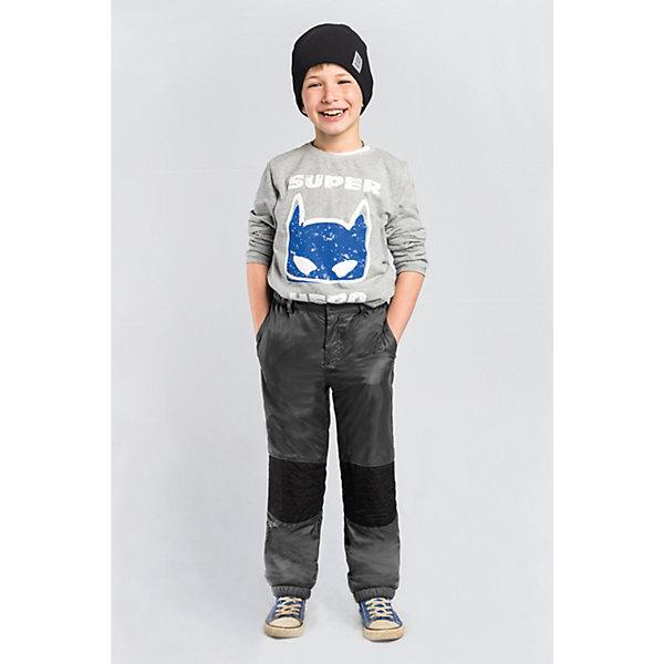 Брюки BOOM by Orby для мальчикаВерхняя одежда<br>Характеристики товара:<br><br>• цвет: графит;<br>• ткань верха: таффета стеганая (100% ПЭ);<br>• отделка: таслан pu milky (100% ПЭ);<br>• подкладка: флис; ПЭ пуходержащий (70% вискоза, 30% ПЭ);<br>• сезон: демисезон;<br>• температурный режим: от -5 до +10°С;<br>• стежка в зоне коленей;<br>• два кармана;<br>• на молнии и на пуговице;<br>• усиленная резинка по низу брючины;<br>• страна бренда: Россия.<br><br>Брюки BOOM by Orby для мальчика - незаменимая вещь на межсезонье. Зона коленей усилена в виде стежки износостойкой тканью таслан для защиты от истирания. для защиты от ветра и попадания грязи - дополнены резинкой по низу брючин. Теплые брюки - идеальный вариант для прогулок, сочетаемый с большим количеством верхней одежды и обувью.<br><br>Брюки BOOM by Orby (Бум бай Орби) для мальчика можно купить в нашем интернет-магазине.<br>Ширина мм: 215; Глубина мм: 88; Высота мм: 191; Вес г: 336; Цвет: серый; Возраст от месяцев: 12; Возраст до месяцев: 18; Пол: Мужской; Возраст: Детский; Размер: 86,158,152,146,140,134,128,122,116,110,104,98,92; SKU: 7709320;