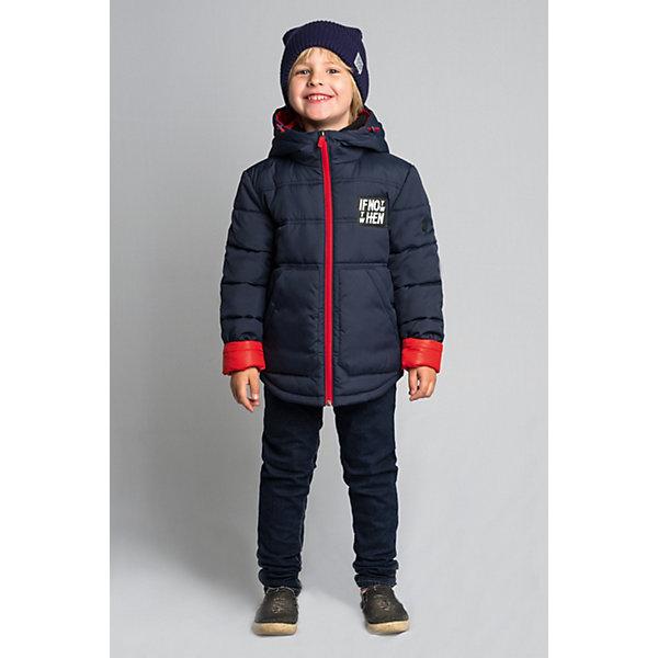 Куртка BOOM by Orby для мальчикаВерхняя одежда<br>Характеристики товара:<br><br>• цвет: темно-синий;<br>• ткань верха: таффета матовая (100% ПЭ);<br>• подкладка: поликоттон; ПЭ пуходержащий (90% хлопок, 10% ПЭ);<br>• отделка:  таслан pu milky (100% ПЭ);<br>• утеплитель: Flexy Fiber 150 г/м2;<br>• сезон: демисезон;<br>• температурный режим: от -5 до +10°С;<br>• контрастная подкладка и молния;<br>• два кармана;<br>• высокая горловина; <br>• особенности:нашивка на груди;<br>• тип куртки: стеганая;<br>• капюшон: с утяжкой на шнурке, несъемный;<br>• страна бренда: Россия.<br><br>Куртка BOOM by Orby для мальчика выполнена из практичной и износостойкой ткани, с оригинальными дизайнерскими элементами, в актуалных цвета сезона. Гипоаллергенный утеплитель защитит в прохладную погоду. Модель обязательно станет любимицей детей и родителей, ведь в неё сочетаются стиль, доступность и практичность. Идеально сочетается с вещами в стиле casual и спорт: джинсы или брюки чинос, полуботинки и шапки-бини. <br><br>Куртку BOOM by Orby (Бум бай Орби) для мальчика можно купить в нашем интернет-магазине.<br>Ширина мм: 356; Глубина мм: 10; Высота мм: 245; Вес г: 519; Цвет: темно-синий; Возраст от месяцев: 96; Возраст до месяцев: 108; Пол: Мужской; Возраст: Детский; Размер: 134,128,122,116,110,104,98,170,164,158,152,146,140; SKU: 7709437;