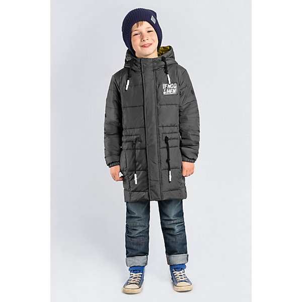 Купить Пальто BOOM by Orby для мальчика, Россия, серый, Мужской