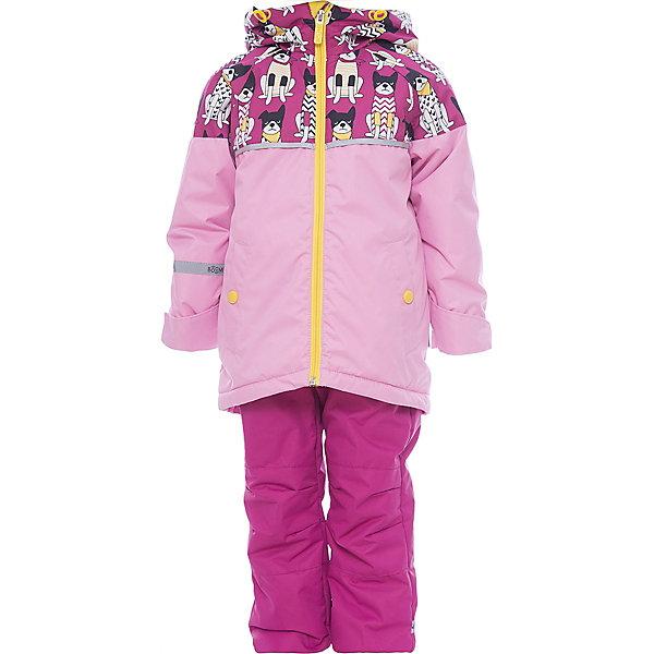 Комплект BOOM by Orby для девочкиВерхняя одежда<br>Характеристики товара:<br><br>• цвет: яр.розовый/принт  собачки / св.розовый;<br>• ткань верха (куртка): таффета фактурная с мембранным покрытием (100% ПЭ);<br>• ткань верха (брюки): таффета фактурная с мембранным покрытием (100% ПЭ);<br>• подкладка (куртка): флис; ПЭ пуходержащий (30% вискоза, 70% ПЭ);<br>• подкладка (брюки): флис (30% вискоза, 70% ПЭ);<br>• утеплитель: FiberSoft 100 г/м2;<br>• сезон: демисезон;<br>• температурный режим: от -5 до +10°С;<br>• водонепроницаемость: 3000 мм;<br>• паропроницаемость: 3000 г/м2;<br>• высокая горловина;<br>• нашифки на рукаве;<br>• принт;<br>• светоотражающие элементы;<br>• эластичная утяжка на брюках;<br>• два кармана на кнопках;<br>• тип: комплект, мембрана;<br>• капюшон: съемный, утяжка на шнурке;<br>• страна бренда: Россия.<br><br>Комплект: куртка и брюки BOOM by Orby для девочки выполнен из практичной, качественной и износостойкой ткани - таффета с мембранным покрытием защитит от продувания и дождя. Идеален на  межсезонье, выполнен в ярком розовом цвете с веселым принтом  собачки .  Гипоаллергенный утеплитель куртки защитит в прохладную погоду. Комплект подойдет и для прогулок и для школы/сада. <br><br>Комплект: куртку и брюки BOOM by Orby для девочки можно купить в нашем интернет-магазине.<br>Ширина мм: 356; Глубина мм: 10; Высота мм: 245; Вес г: 519; Цвет: розовый; Возраст от месяцев: 48; Возраст до месяцев: 60; Пол: Женский; Возраст: Детский; Размер: 110,104,98,92,122,116; SKU: 7709543;