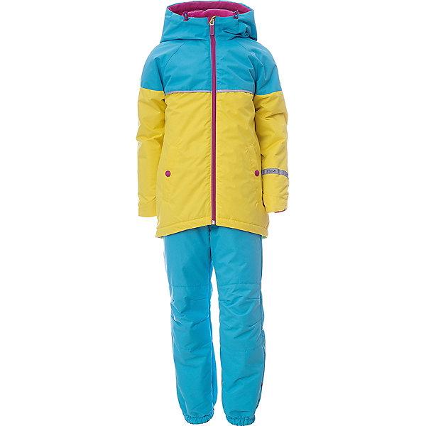 Комплект BOOM by Orby для девочкиВерхняя одежда<br>Характеристики товара:<br><br>• цвет: бирюзовый/желтый;<br>• ткань верха (куртка): таффета фактурная с мембранным покрытием (100% ПЭ);<br>• ткань верха (брюки): таффета фактурная с мембранным покрытием (100% ПЭ);<br>• подкладка (куртка): флис; ПЭ пуходержащий (30% вискоза, 70% ПЭ);<br>• подкладка (брюки): флис (30% вискоза, 70% ПЭ);<br>• утеплитель: FiberSoft 100 г/м2;<br>• сезон: демисезон;<br>• температурный режим: от -5 до +10°С;<br>• водонепроницаемость: 3000 мм;<br>• паропроницаемость: 3000 г/м2;<br>• высокая горловина;<br>• нашифки на рукаве;<br>• светоотражающие элементы;<br>• эластичная утяжка на брюках;<br>• два кармана на кнопках;<br>• тип: комплект, мембрана;<br>• капюшон: съемный, утяжка на шнурке;<br>• страна бренда: Россия.<br><br>Комплект: куртка и брюки BOOM by Orby для девочки выполнен из практичной, качественной и износостойкой ткани - таффета с мембранным покрытием защитит от продувания и дождя. Идеален на  межсезонье, выполнен в ярких актуальных тонах.  Гипоаллергенный утеплитель куртки защитит в прохладную погоду. Комплект подойдет и для прогулок и для школы/сада. <br><br>Комплект: куртку и брюки BOOM by Orby для девочки можно купить в нашем интернет-магазине.<br>Ширина мм: 356; Глубина мм: 10; Высота мм: 245; Вес г: 519; Цвет: бирюзовый; Возраст от месяцев: 18; Возраст до месяцев: 24; Пол: Женский; Возраст: Детский; Размер: 92,98,104,110,116,122; SKU: 7709550;