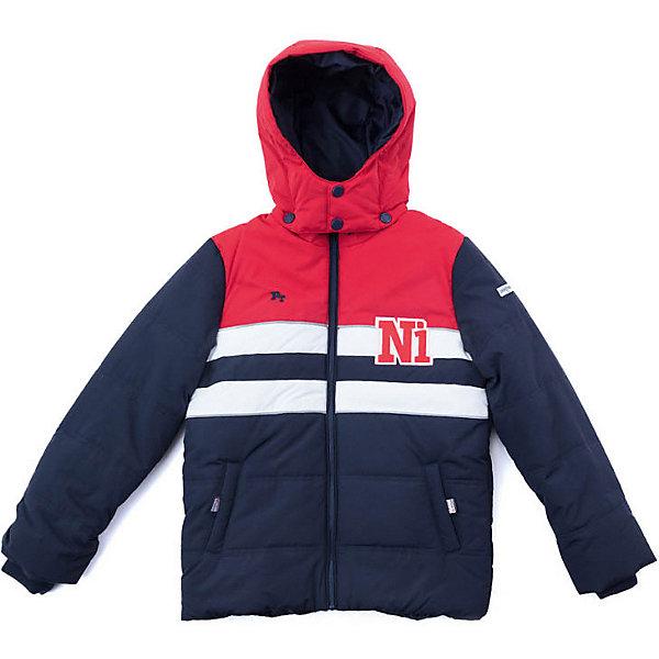 Куртка PlayToday для мальчикаДемисезонные куртки<br>Характеристики товара:<br><br>• цвет: синий/красный;<br>• состав ткани: 100% нейлон;<br>• подкладка: 100% полиэстер;<br>• утеплитель: 100% полиэстер, 200 г/м2;<br>• сезон: демисезон;<br>• температурный режим: от -7 до +5С;<br>• застёжка: молния с защитой подбородка;<br>• водонепроницаемая ткань;<br>• съёмный капюшон на кнопках;<br>• без меха на капюшоне;<br>• два кармана;<br>• воротник-стойка;<br>• манжеты рукавов на мягкой трикотажной резинке;<br>• светоотражающие детали;<br>• коллекция: Футбольный клуб;<br>• страна бренда: Германия.<br><br>Утепленная куртка выполнена из водонепроницаемой ткани. Капюшон на кнопках, с высокой ветрозащитой. Воротник стойка изнутри, а также манжеты рукавов на трикотажных резинках для дополнительного сохранения тепла. <br><br>Модель на молнии, с встрочными карманами. Светоотражатели обеспечат безопасность ребенка в темное время суток.<br><br>Куртку PlayToday (ПлэйТудэй) можно купить в нашем интернет-магазине.