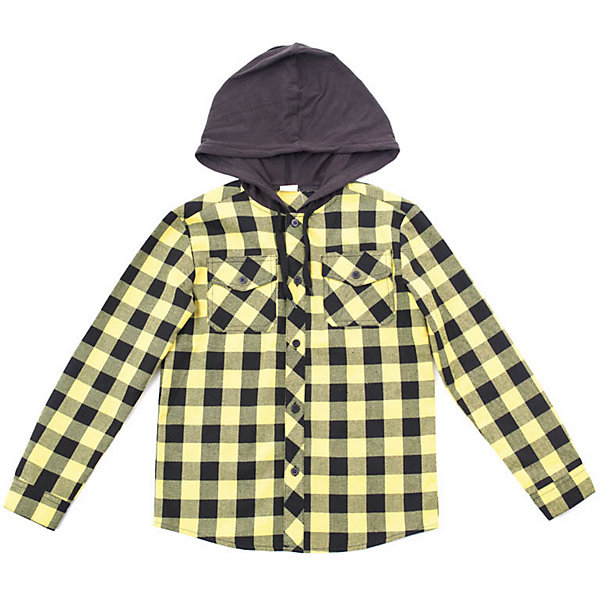 Футболка с длинным рукавом PlayToday для мальчикаБлузки и рубашки<br>Характеристики товара:<br><br>• цвет: жёлтый/чёрный;<br>• состав ткани: 100% хлопок;<br>• сезон: демисезон;<br>• застёжка: пуговицы;<br>• рубашка с капюшоном на шнурке-кулиске;<br>• рубашка с длинным рукавом;<br>• манжеты рукавов на пуговице;<br>• рубашка в клетку;<br>• два накладных нагрудных кармана на пуговице;<br>• коллекция: Рок-звезда;<br>• страна бренда: Германия.<br><br>Сорочка выполнена из натурального хлопка. Модель дополнена встрочным капюшоном на регулируемом шнуре - кулиске. Рукава оформлены манжетами. Сорочка с двумя накладными карманами.<br><br>Рубашку PlayToday (ПлэйТудэй) можно купить в нашем интернет-магазине.<br>Ширина мм: 174; Глубина мм: 10; Высота мм: 169; Вес г: 157; Цвет: желтый; Возраст от месяцев: 36; Возраст до месяцев: 48; Пол: Мужской; Возраст: Детский; Размер: 104,146/152,134/140,122,116,110,128; SKU: 7714023;