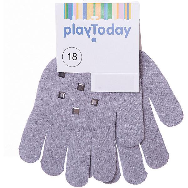 Перчатки PlayToday для девочкиВерхняя одежда<br>Характеристики товара:<br><br>• цвет: серый;<br>• состав ткани: 58% хлопок, 40% акрил, 2% эластан;<br>• сезон: демисезон;<br>• температурный режим: от -5 до +7С;<br>• манжеты на плотной трикотажной резинке;<br>• вязаные перчатки;<br>• декорированы стразами;<br>• коллекция: Рок-принцесса;<br>• страна бренда: Германия.<br><br>Вязаные перчатки мягкие, хорошо тянутся и прекрасно сохраняют тепло. На манжетах - плотная резинка, которая хорошо держит перчатки на руках ребенка. Перчатки декорированы стразами.<br><br>Перчатки PlayToday (ПлэйТудэй) можно купить в нашем интернет-магазине.<br>Ширина мм: 162; Глубина мм: 171; Высота мм: 55; Вес г: 119; Цвет: серый; Возраст от месяцев: 3; Возраст до месяцев: 6; Пол: Женский; Возраст: Детский; Размер: 18,14,16,13; SKU: 7714175;