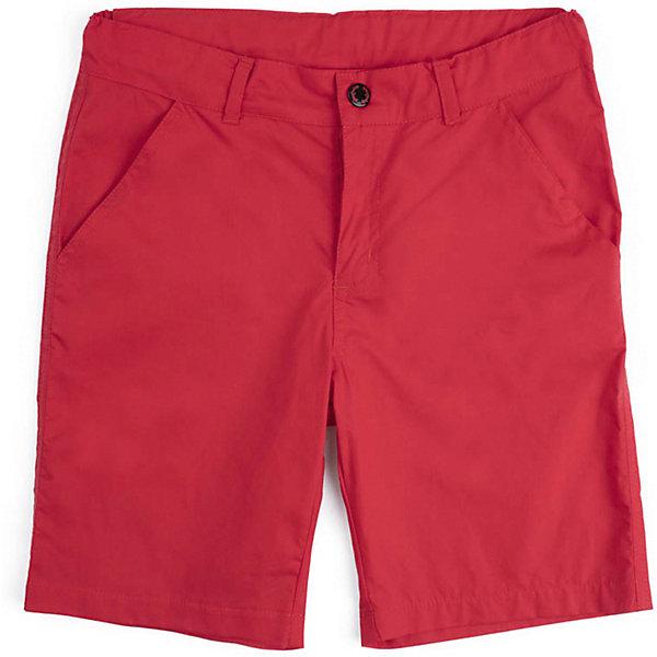 Шорты PlayToday для мальчикаШорты, бриджи, капри<br>Характеристики товара:<br><br>• цвет: красный;<br>• состав ткани: 100% хлопок;<br>• сезон: лето;<br>• застёжка: ширинка на молнии и пуговица;<br>• внутренняя регулировка талии;<br>• наличие шлёвок для ремня;<br>• два боковых кармана;<br>• коллекция: Форсаж;<br>• страна бренда: Германия.<br><br>Шорты из тонкого твила - поплина. Пояс со шлевками, при необходимости можно использовать ремень. Изнутри регулируется по ширине за счет резинки и пуговиц. Модель дополнена встрочными карманами.<br><br>Шорты PlayToday (ПлэйТудэй) можно купить в нашем интернет-магазине.<br>Ширина мм: 191; Глубина мм: 10; Высота мм: 175; Вес г: 273; Цвет: красный; Возраст от месяцев: 132; Возраст до месяцев: 144; Пол: Мужской; Возраст: Детский; Размер: 104,134/140,122,110,146/152,128,116; SKU: 7714709;