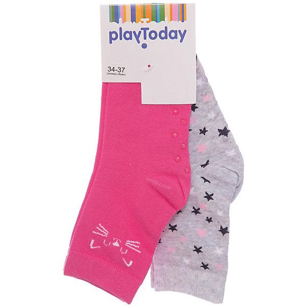 PlayToday Носки PlayToday для девочки колготки носки гетры playtoday носки для девочки 3 пары лучшие друзья 178090