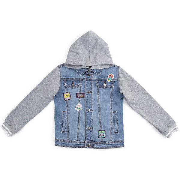 Куртка PlayToday для мальчикаДемисезонные куртки<br>Куртка PlayToday для мальчика<br>Куртка с капюшоном и отложным воротником выполнена из натуральной ткани. Рукава и капюшон из трикотажа. Капюшон на пуговицах, при необходимости его можно отстегнуть. Манжеты рукавов на плотных трикотажных резинках. В качестве декора использованы аппликации.<br>Состав:<br>70% хлопок, 20% полиэстер, 8% вискоза, 2% эластан<br>Ширина мм: 356; Глубина мм: 10; Высота мм: 245; Вес г: 519; Цвет: голубой; Возраст от месяцев: 36; Возраст до месяцев: 48; Пол: Мужской; Возраст: Детский; Размер: 122,110,116,128,104,146/152,134/140; SKU: 7715153;