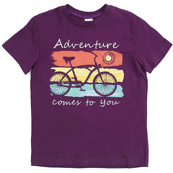 Футболка PlayToday для мальчикаФутболки, поло и топы<br>Характеристики товара:<br><br>• цвет: фиолетовый;<br>• состав ткани: 95% хлопок, 5% эластан;<br>• сезон: лето;<br>• горловина на мягкой трикотажной резинке;<br>• декорирована принтом в виде велосипеда;<br>• коллекция: Летнее приключение;<br>• страна бренда: Германия.<br><br>Футболка из натурального хлопка. Горловина оформлена мягкой трикотажной резинкой. Модель декорирована крупным принтом.<br><br>Футболку PlayToday (ПлэйТудэй) можно купить в нашем интернет-магазине.<br>Ширина мм: 199; Глубина мм: 10; Высота мм: 161; Вес г: 151; Цвет: красный; Возраст от месяцев: 132; Возраст до месяцев: 144; Пол: Мужской; Возраст: Детский; Размер: 146/152,116,110,128,104,134/140,122; SKU: 7715263;