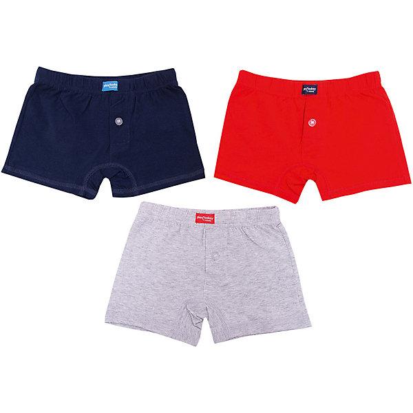 Трусы PlayToday для мальчикаНижнее бельё<br>Характеристики товара:<br><br>• цвет: красный/серый/тёмно-синий;<br>• состав ткани: 95% хлопок, 5% эластан;<br>• в комплекте: 3 шт.;<br>• пояс на широкой резинке;<br>• аккуратные швы;<br>• коллекция: Корпорация монстриков;<br>• страна бренда: Германия.<br><br>Трусы - боксеры выполнены из натурального хлопка. Пояс на широкой резинке не сдавливающей живот ребенка. Аккуратные швы не вызывают неприятных ощущений. В качестве декора использованы принты.<br><br>Трусы PlayToday (ПлэйТудэй) можно купить в нашем интернет-магазине.<br>Ширина мм: 196; Глубина мм: 10; Высота мм: 154; Вес г: 152; Цвет: красный; Возраст от месяцев: 48; Возраст до месяцев: 60; Пол: Мужской; Возраст: Детский; Размер: 104/110,122/128,146,116/122,110/116,98/104,134/140; SKU: 7715330;