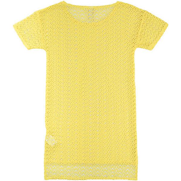 Футболка PlayTodayФутболки<br>Характеристики товара:<br><br>• состав ткани: 85% полиэстер, 10% хлопок, 5% эластан;<br>• пляжная кружевная футболка;<br>• заниженная спинка;<br>• коллекция: Весёлые старты;<br>• страна бренда: Германия.<br><br>Кружевная футболка выполнена из смесовой ткани с заниженной спинкой. Модель с коротким рукавом.