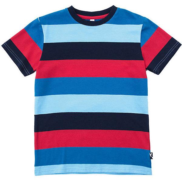 Футболка PlayToday для мальчикаФутболки, поло и топы<br>Характеристики товара:<br><br>• цвет: синий/красный;<br>• состав ткани: 95% хлопок, 5% эластан;<br>• сезон: лето;<br>• горловина на мягкой трикотажной резинке;<br>• футболка в полоску;<br>• коллекция; Футбольный клуб;<br>• страна бренда: Германия.<br><br>Футболка с коротким рукавом. Аккуратные швы не вызывают раздражений. Горловина модели на мягкой трикотажной резинке. Модель выполнена в технике yarn dyed - в процессе производства используются разного цвета нити. Изделие при рекомендуемом уходе не линяет и надолго остается в первоначальном виде.<br><br>Футболку PlayToday (ПлэйТудэй) можно купить в нашем интернет-магазине.<br>Ширина мм: 199; Глубина мм: 10; Высота мм: 161; Вес г: 151; Цвет: темно-синий; Возраст от месяцев: 132; Возраст до месяцев: 144; Пол: Мужской; Возраст: Детский; Размер: 146/152,110,128,104,134/140,122,116; SKU: 7716766;