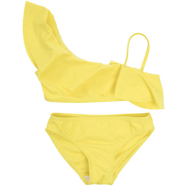 Купальный костюм PlayToday для девочкиКупальники и плавки<br>Характеристики товара:<br><br>• цвет: жёлтый;<br>• состав ткани: 80% нейлон, 20% эластан;<br>• застёжка: замочек;<br>• раздельный купальник;<br>• ассиметричный крой лифа;<br>• быстросохнущая ткань;<br>• декорирован оборкой;<br>• коллекция: Весёлые старты;<br>• страна бренда: Германия.<br><br>Раздельный купальник из быстросохнущего и эластичного материала. Лиф асимметричного кроя, дополнен оборкой.<br><br>Купальник PlayToday (ПлэйТудэй) можно купить в нашем интернет-магазине.<br>Ширина мм: 183; Глубина мм: 60; Высота мм: 135; Вес г: 119; Цвет: желтый; Возраст от месяцев: 36; Возраст до месяцев: 48; Пол: Женский; Возраст: Детский; Размер: 104,146/152,134/140,128,122,116,110; SKU: 7717008;