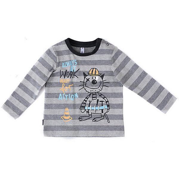 PlayToday Футболка с длинным рукавом PlayToday для мальчика водолазки и лонгсливы playtoday футболка трикотажная для мальчиков футболка с длинным рукавом рок звезда 181067