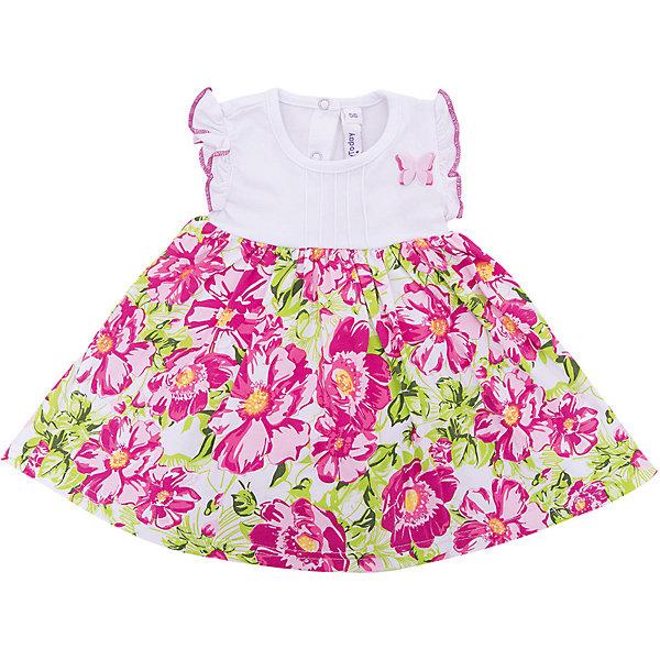 PlayToday Платье PlayToday для девочки платье без рукавов с кружевной вставкой на спинке