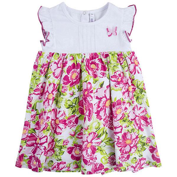 PlayToday Платье PlayToday для девочки купальник слитный для девочки playtoday baby солнечная палитра цвет розовый 188077 размер 98