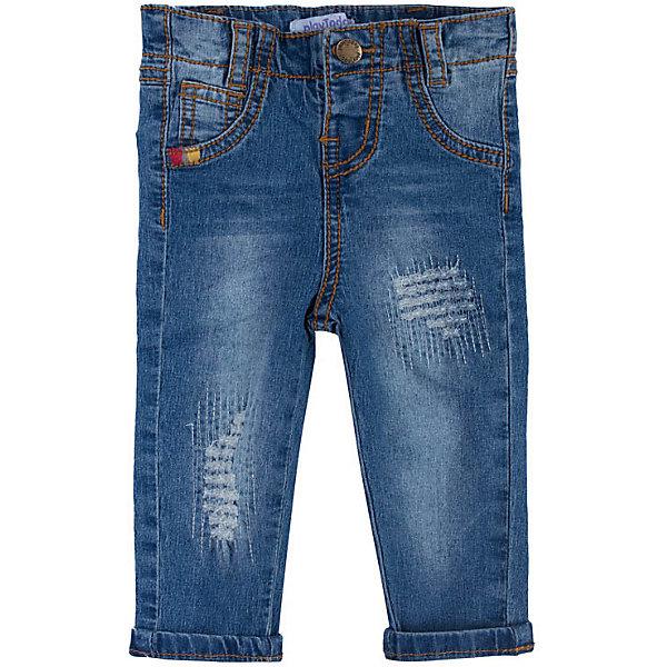 Джинсы PlayToday для мальчикаДжинсы и брючки<br>Характеристики товара:<br><br>• цвет: синий;<br>• состав ткани: 100% хлопок;<br>• сезон: демисезон;<br>• застёжка: ширинка на молнии и пуговица;<br>• внутренняя регулировка талии;<br>• наличие шлёвок для ремня;<br>• классическая 5-ти карманная модель;<br>• декорированы потёртостями;<br>• коллекция: Весёлые джунгли;<br>• страна бренда: Германия.<br><br>Джинсы выполнены из натурального хлопка. Модель со шлевками, при необходимости можно использовать ремень. Пояс изнутри регулируется по ширине за счет резинки на пуговицах. В качестве декора использованы потертости.<br><br>Джинсы PlayToday (ПлэйТудэй) можно купить в нашем интернет-магазине.<br>Ширина мм: 215; Глубина мм: 88; Высота мм: 191; Вес г: 336; Цвет: синий; Возраст от месяцев: 2; Возраст до месяцев: 5; Пол: Мужской; Возраст: Детский; Размер: 62,74,68; SKU: 7717442;