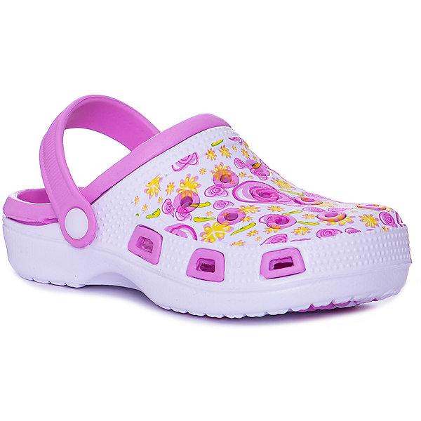 Сабо Mursu для девочкиПляжная обувь<br>Характеристики товара:<br><br>• цвет: белый/розовый;<br>• внешний материал: ЭВА;<br>• внутренний материал: ЭВА;<br>• стелька: ЭВА;<br>• подошва: ЭВА;<br>• сезон: лето;<br>• облегчённая модель;<br>• подходит для пляжа;<br>• подходит для занятий в бассейне;<br>• отверстия для вентиляции;<br>• закрытый нос;<br>• устойчивая подошва;<br>• страна бренда: Финляндия.<br><br>Удобные кроксы Mursu незаменимы для пляжного сезона. Легкая модель полностью выполнена из качественного полимерного материала. У кроксов имеется подвижный ремешок с пластиковыми кнопками. Мысочная часть оформлена красивым цветочным принтом. Большое количество дырочек в верхней части обуви обеспечивает вентиляцию ноги.<br><br>Пляжная обувь финского бренда Mursu - это отличный вариант правильной и красивой детской обуви!<br><br>Пляжную обувь Mursu для девочки можно купить в нашем интернет-магазине.<br>Ширина мм: 225; Глубина мм: 139; Высота мм: 112; Вес г: 290; Цвет: розовый/белый; Возраст от месяцев: 120; Возраст до месяцев: 132; Пол: Женский; Возраст: Детский; Размер: 34,33,32,31,30,35; SKU: 7722691;
