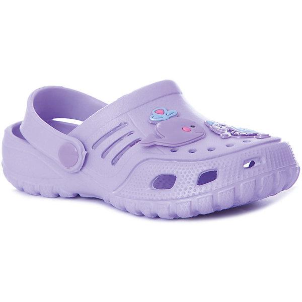 Сабо Mursu для девочкиПляжная обувь<br>Характеристики товара:<br><br>• цвет: сиреневый;<br>• внешний материал: ЭВА;<br>• внутренний материал: ЭВА;<br>• стелька: ЭВА;<br>• подошва: ЭВА;<br>• сезон: лето;<br>• облегчённая модель;<br>• подходит для пляжа;<br>• подходит для занятий в бассейне;<br>• отверстия для вентиляции;<br>• закрытый нос;<br>• устойчивая подошва;<br>• страна бренда: Финляндия.<br><br>Удобные кроксы Mursu незаменимы для пляжного сезона. Легкая модель полностью выполнена из качественного полимерного материала. У кроксов имеется подвижный ремешок с пластиковыми кнопками. Большое количество дырочек в верхней части обуви обеспечивает вентиляцию ноги. Носочная часть оформлена оригинальным декоративным элементом в виде рыбки, который неприменно оценит ваш ребенок. <br><br>Пляжная обувь финского бренда Mursu - это отличный вариант правильной и красивой детской обуви!<br><br>Пляжную обувь Mursu для девочки можно купить в нашем интернет-магазине.<br>Ширина мм: 225; Глубина мм: 139; Высота мм: 112; Вес г: 290; Цвет: лиловый; Возраст от месяцев: 21; Возраст до месяцев: 24; Пол: Женский; Возраст: Детский; Размер: 24,29,28,27,26,25; SKU: 7722719;