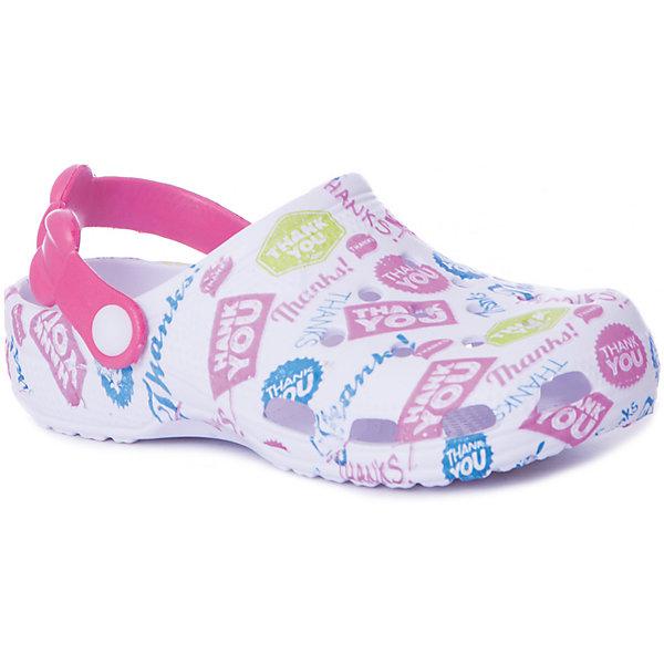 Сабо Mursu для девочкиПляжная обувь<br>Характеристики товара:<br><br>• цвет: белый/мультиколор;<br>• внешний материал: ЭВА;<br>• внутренний материал: ЭВА;<br>• стелька: ЭВА;<br>• подошва: ЭВА;<br>• сезон: лето;<br>• облегчённая модель;<br>• подходит для пляжа;<br>• подходит для занятий в бассейне;<br>• отверстия для вентиляции;<br>• закрытый нос;<br>• устойчивая подошва;<br>• страна бренда: Финляндия<br>• длина стельки: 17,5 см<br><br>Удобные кроксы Mursu незаменимы для пляжного сезона. Легкая модель полностью выполнена из качественного полимерного материала. У кроксов имеется подвижный ремешок с пластиковыми кнопками. Длину ремешка можно регулировать для более плотного прилегания к ноге. Большое количество дырочек в верхней части обуви обеспечивает вентиляцию ноги.<br><br>Кроксы выполнены в ярком цвете с оригинальным принтом, который сочетается с большим количеством одежды.<br><br>Пляжная обувь финского бренда Mursu - это отличный вариант правильной и красивой детской обуви!<br><br>Пляжную обувь Mursu для девочки можно купить в нашем интернет-магазине.<br>Ширина мм: 225; Глубина мм: 139; Высота мм: 112; Вес г: 290; Цвет: розовый/белый; Возраст от месяцев: 36; Возраст до месяцев: 48; Пол: Женский; Возраст: Детский; Размер: 27,24,29,28,26,25; SKU: 7722740;