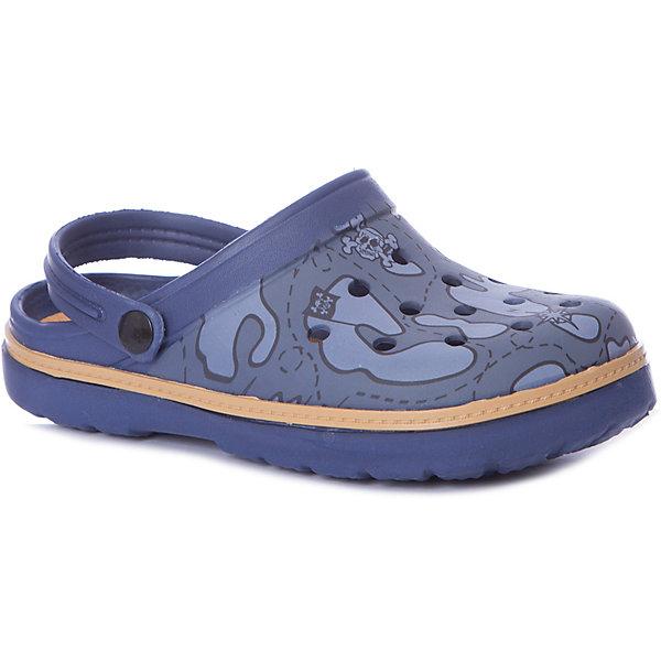Сабо Mursu для мальчикаПляжная обувь<br>Характеристики товара:<br><br>• цвет: синий/принт;<br>• внешний материал: ЭВА;<br>• внутренний материал: ЭВА;<br>• стелька: ЭВА;<br>• подошва: ЭВА;<br>• сезон: лето;<br>• облегчённая модель;<br>• подходит для пляжа;<br>• подходит для занятий в бассейне;<br>• отверстия для вентиляции;<br>• закрытый нос;<br>• устойчивая подошва;<br>• страна бренда: Финляндия.<br><br>Удобные кроксы Mursu незаменимы для пляжного сезона. Легкая модель полностью выполнена из качественного полимерного материала. У кроксов имеется подвижный ремешок с пластиковыми кнопками. Большое количество дырочек в верхней части обуви обеспечивает вентиляцию ноги. Модель выполнена в синем цвете с модным принтом камуфляж.<br><br>Пляжная обувь финского бренда Mursu - это отличный вариант правильной и красивой детской обуви!<br><br>Пляжную обувь Mursu для мальчика можно купить в нашем интернет-магазине.<br>Ширина мм: 225; Глубина мм: 139; Высота мм: 112; Вес г: 290; Цвет: синий; Возраст от месяцев: 72; Возраст до месяцев: 84; Пол: Мужской; Возраст: Детский; Размер: 30,35,34,33,32,31; SKU: 7722782;