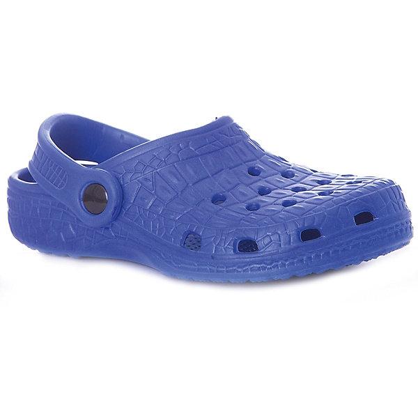 Сабо Mursu для мальчикаПляжная обувь<br>Характеристики товара:<br><br>• цвет: синий;<br>• внешний материал: ЭВА;<br>• внутренний материал: ЭВА;<br>• стелька: ЭВА;<br>• подошва: ЭВА;<br>• сезон: лето;<br>• облегчённая модель;<br>• подходит для пляжа;<br>• подходит для занятий в бассейне;<br>• отверстия для вентиляции;<br>• закрытый нос;<br>• устойчивая подошва;<br>• страна бренда: Финляндия.<br><br>Удобные кроксы Mursu незаменимы для пляжного сезона. Легкая модель полностью выполнена из качественного полимерного материала. У кроксов имеется подвижный ремешок с пластиковыми кнопками. Большое количество дырочек в верхней части обуви обеспечивает вентиляцию ноги. Модель выполнена в ярком синем цвете.<br><br>Пляжная обувь финского бренда Mursu - это отличный вариант правильной и красивой детской обуви!<br><br>Пляжную обувь Mursu для мальчика можно купить в нашем интернет-магазине.<br>Ширина мм: 225; Глубина мм: 139; Высота мм: 112; Вес г: 290; Цвет: синий; Возраст от месяцев: 21; Возраст до месяцев: 24; Пол: Мужской; Возраст: Детский; Размер: 24,29,28,27,26,25; SKU: 7723185;