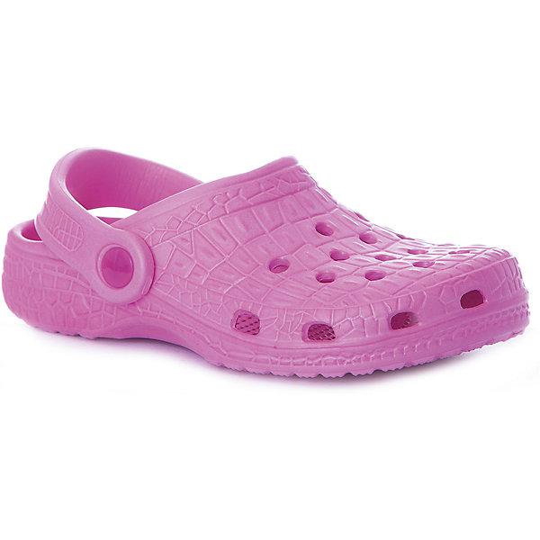 Сабо Mursu для девочкиПляжная обувь<br>Характеристики товара:<br><br>• цвет: яр.розовый;<br>• внешний материал: ЭВА;<br>• внутренний материал: ЭВА;<br>• стелька: ЭВА;<br>• подошва: ЭВА;<br>• сезон: лето;<br>• облегчённая модель;<br>• подходит для пляжа;<br>• подходит для занятий в бассейне;<br>• отверстия для вентиляции;<br>• закрытый нос;<br>• устойчивая подошва;<br>• страна бренда: Финляндия.<br><br>Удобные кроксы Mursu незаменимы для пляжного сезона. Легкая модель полностью выполнена из качественного полимерного материала. У кроксов имеется подвижный ремешок с пластиковыми кнопками. Большое количество дырочек в верхней части обуви обеспечивает вентиляцию ноги. Модель выполнена в ярком розовом цвете.<br><br>Пляжная обувь финского бренда Mursu - это отличный вариант правильной и красивой детской обуви!<br><br>Пляжную обувь Mursu для девочки можно купить в нашем интернет-магазине.<br>Ширина мм: 225; Глубина мм: 139; Высота мм: 112; Вес г: 290; Цвет: розовый; Возраст от месяцев: 21; Возраст до месяцев: 24; Пол: Женский; Возраст: Детский; Размер: 29,28,27,26,25,24; SKU: 7723199;