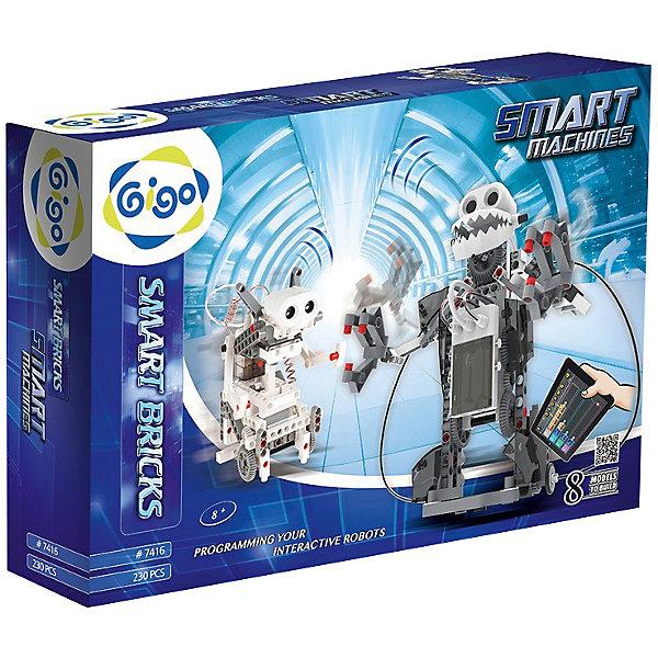 Конструктор GIGO Умные машиныРобототехника и электроника<br>Характеристики:<br><br>• возраст: от 7 лет;<br>• материал: пластик;<br>• питание: 3 батарейки типа АА (в комплект не входят);<br>• количество деталей: 230;<br>• размер упаковки: 48х33х9 см;<br>• вес упаковки: 1,5 кг.;<br>• страна бренда: Тайвань.<br><br>Конструктор GIGO Умные машины  предназначен для любознательного ребенка, который интересуется физикой и различными изобретениями.<br><br>Занимаясь с этим набором, ребенок узнаёт о первых законах физики и современных технологиях. Собирая роботов, он получает важные навыки конструирования. Работа с деталями положительно влияет на моторику и координацию движений его рук. Создание точных моделей согласно инструкции развивает логическое мышление.<br><br>Возможность строительства оригинальных конструкций позволяет развить креативность и нестандартный взгляд на вещи. Играя с деталями, ребенок знакомится с профессией инженера. Пусть маленький мастер поймет, что наука может быть веселой и увлекательной!<br><br>Конструктор GIGO Умные машины можно купить в нашем интернет-магазине.<br>Ширина мм: 480; Глубина мм: 90; Высота мм: 330; Вес г: 1620; Возраст от месяцев: 60; Возраст до месяцев: 180; Пол: Унисекс; Возраст: Детский; SKU: 7731248;