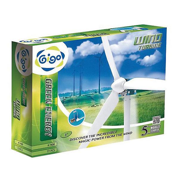 Научный набор GIGO Энергия ветраРобототехника и электроника<br>Характеристики товара:<br><br>• возраст: от 8 лет;<br>• материал: пластик, металл;<br>• питание: 1 бетерейка АА (в комплект не входят);<br>• количество деталей: 77;<br>• размер упаковки: 37х8х29 см;<br>• вес упаковки: 1,5 кг.;<br>• страна бренда: Тайвань.<br><br>Научный набор GIGO Энергия ветра  предназначен для любознательного ребенка, который интересуется физикой и различными изобретениями.<br><br>Занимаясь с этим набором, ребенок узнаёт о первых законах физики и современных технологиях. Работа с деталями положительно влияет на моторику и координацию движений его рук. Создание точных моделей согласно инструкции развивает логическое мышление.<br><br>Возможность строительства оригинальных конструкций позволяет развить креативность и нестандартный взгляд на вещи. Играя с деталями, ребенок знакомится с профессией инженера. Пусть маленький мастер поймет, что наука может быть веселой и увлекательной!<br><br>В комплект входят: рамки, балки, панели, зубчатые шестеренки и оси, мотор-редуктор с проводом, длинные и короткие лопасти пропеллеров, держатели батареек, зарядное устройство, инструкция.<br><br>Варианты конструирования 5 моделей: ветряной двигатель, электроавтомобиль, самолет, вертолет и тягач.<br><br>Научный набор GIGO Энергия ветра   можно купить в нашем интернет-магазине.<br>Ширина мм: 370; Глубина мм: 80; Высота мм: 290; Вес г: 1280; Возраст от месяцев: 60; Возраст до месяцев: 180; Пол: Унисекс; Возраст: Детский; SKU: 7731252;