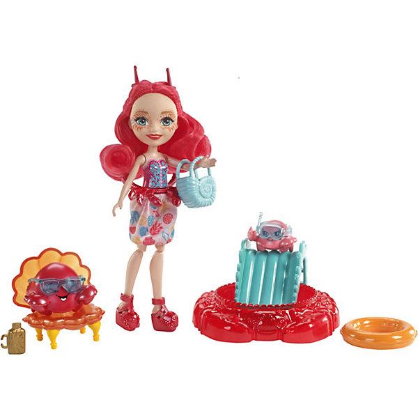 Игровой набор Enchantimals «Морские подружки с друзьями» Камео и ее крабики, 15 смМини-куклы<br>Характеристики:<br><br>• возраст: от 4 лет;<br>• материал: пластмасса, текстиль;<br>• высота куклы: 15 см;<br>• герои: Камео и ее крабики;<br>• подвижные руки, ноги, голова у куклы, мягкие волосы;<br>• комплектация: кукла, морской друг-зверек, раковина для окраски волос, аквариум, одежда, аксессуары;<br>• вес в упаковке: 1,4 кг;<br>• размеры упаковки: 27х37х23 см;<br>• упаковка: картонная коробка блистерного типа;<br>• страна бренда: США.<br><br>Игровой набор Enchantimals (Энчантималс) «Морские подружки», включает в себя куклу Камео и ее крабики, а также множество аксессуаров. Одета в съёмную юбку и обувь.<br><br>Кукла меняет цвет волос. Нужно нанеси холодную воду, чтобы изменить цвет, а чтобы вернуть всё назад, нанеси тёплую воду, можно повторять снова и снова.<br><br>Кукла не может стоять без опоры. Имеет подвижные руки и ноги, ее голова поворачивается. Волосы, можно расчесывать и делать новые прически, тем самым развивая воображение ребенка. <br><br>Игровой набор Enchantimals (Энчантималс) «Морские подружки» Камео и ее крабики, 15 см можно приобрести в нашем интернет-магазине.<br>Ширина мм: 270; Глубина мм: 370; Высота мм: 230; Вес г: 1400; Возраст от месяцев: 48; Возраст до месяцев: 2147483647; Пол: Женский; Возраст: Детский; SKU: 7731396;