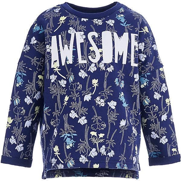 Толстовка Button BlueТолстовки<br>Характеристики товара:<br><br>• состав ткани: 60% хлопок, 40% полиэстер<br>• сезон: демисезон<br>• длинные рукава<br>• страна бренда: Россия<br><br>Удобная детская толстовка, как и другие модели одежды для ребенка от Button Blue - качественная стильная вещь по доступной цене. Теплая толстовка для ребенка от известного бренда Button Blue отличается свободным силуэтом. Эта толстовка для детей декорирована модным принтом.