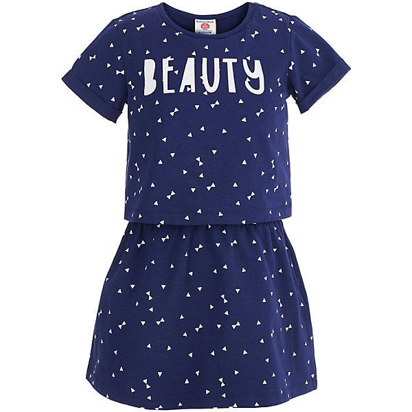 Платье Button Blue для девочкиПлатья и сарафаны<br>Платье Button Blue для девочки<br>Легкое и удобное платье для девочки - лучший вариант летней одежды. Купить детское платье Button Blue, значит обеспечить девочку качественной и модной вещью, которую можно носить каждый день. Платье недорого стоит, отлично сидит, имеет свободную форму и трендовый лаконичный силуэт. Спокойный оттенок сочетается со многими цветами, поэтому модель можно надевать вместе с самыми разными аксессуарами и обувью, не боясь, что они не подойдут.<br>Состав:<br>95%хлопок, 5%эластан, подкладка 100% хлопок<br>Ширина мм: 236; Глубина мм: 16; Высота мм: 184; Вес г: 177; Цвет: темно-синий; Возраст от месяцев: 24; Возраст до месяцев: 36; Пол: Женский; Возраст: Детский; Размер: 98,158,152,146,140,134,128,122,116,110,104; SKU: 7745322;