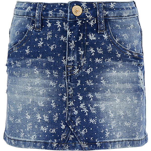 Button Blue Юбка джинсовая Button Blue для девочки юбка для девочки button blue цвет голубой 217bbgc6102d214 размер 146 11 лет