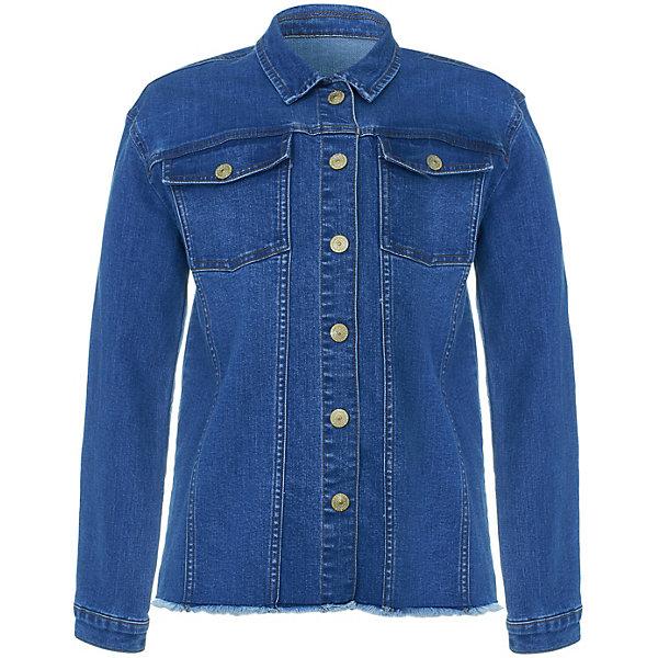 Куртка джинсовая Button Blue для девочкиВерхняя одежда<br>Характеристики товара:<br><br>• цвет: синий<br>• состав ткани: 65% хлопок, 33% полиэстер, 2%эластан<br>• сезон: демисезон<br>• застежка: пуговицы<br>• длинные рукава<br>• страна бренда: Россия<br><br>Плотная детская рубашка, как и другие модели одежды для ребенка от Button Blue - качественная стильная вещь по доступной цене. Рубашка для ребенка от известного бренда Button Blue отличается прямым силуэтом. Эта рубашку для детей дополнена карманами на груди. <br><br>Рубашку Button Blue (Баттон Блю) для девочки можно купить в нашем интернет-магазине.<br>Ширина мм: 356; Глубина мм: 10; Высота мм: 245; Вес г: 519; Цвет: синий; Возраст от месяцев: 36; Возраст до месяцев: 48; Пол: Женский; Возраст: Детский; Размер: 104,158,152,146,140,134,128,122,116,110; SKU: 7745729;