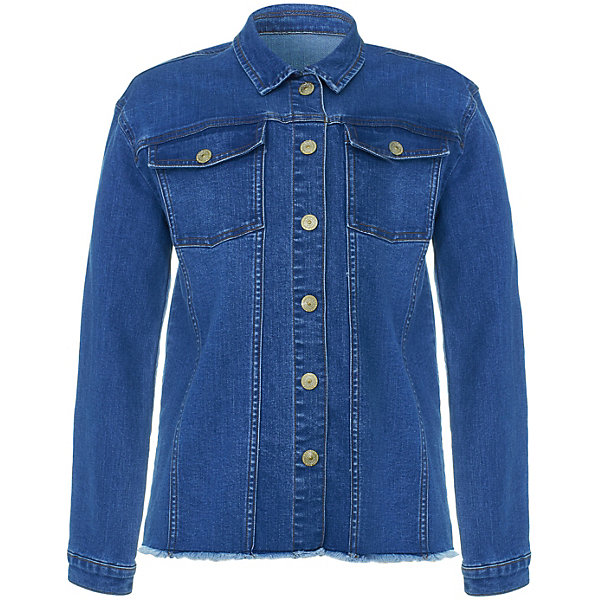 Button Blue Куртка джинсовая Button Blue для девочки куртка джинсовая детская quiksilver jungle temple you jckt blue salted