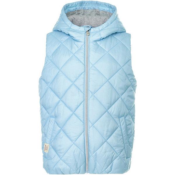 Жилет Button Blue для девочкиВерхняя одежда<br>Жилет Button Blue для девочки<br>Утепленный детский жилет - прекрасный вариант модной и практичной недорогой одежды. Модный в этом сезоне голубой цвет поможет создать множество образов, так как прекрасно сочетается со множеством других оттенков. Жилет удобный и качественный, как раз такой, в котором ребенку всегда будет комфортно. По выгодной цене можно купить детский жилет для девочки в интернет-магазине Button-blue.com.<br>Состав:<br>верх: 100% полиэстер, подкладка 1 : 100% полиэстр, подкладка 2 : 100% хлопок,  утеплитель: 100% полиэстер<br>Ширина мм: 356; Глубина мм: 10; Высота мм: 245; Вес г: 519; Цвет: голубой; Возраст от месяцев: 24; Возраст до месяцев: 36; Пол: Женский; Возраст: Детский; Размер: 98,158,152,146,140,134,128,122,116,110,104; SKU: 7745824;