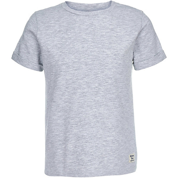 Футболка  Button Blue для мальчикаФутболки, поло и топы<br>Характеристики товара:<br><br>• цвет: серый<br>• состав ткани: 95% хлопок, 5% эластан<br>• сезон: лето<br>• короткие рукава<br>• страна бренда: Россия<br><br>Серая детская футболка сделана из натурального хлопка, который не вызывает аллергии и прост в уходе. Модная футболка для ребенка от популярного бренда Button Blue выполнена в универсальном цвете. Эта футболка для детей отличается классическим силуэтом.<br><br>Футболку Button Blue (Баттон Блю) для мальчика можно купить в нашем интернет-магазине.<br>Ширина мм: 199; Глубина мм: 10; Высота мм: 161; Вес г: 151; Цвет: серый; Возраст от месяцев: 132; Возраст до месяцев: 144; Пол: Мужской; Возраст: Детский; Размер: 152,98,158,146,140,134,128,122,116,110,104; SKU: 7746120;