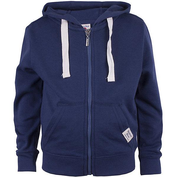 Толстовка Button Blue для мальчикаТолстовки<br>Характеристики товара:<br><br>• цвет: синий<br>• состав ткани: 60% хлопок, 40% полиэстер<br>• сезон: демисезон<br>• особенности модели: с капюшоном<br>• застежка: молния<br>• длинные рукава<br>• страна бренда: Россия<br><br>Теплая толстовка для ребенка от популярного бренда Button Blue выполнена в универсальном цвете. Толстовка для детей удобно застегивается на молнию. Такая детская толстовка сделана из натурального хлопка, который не вызывает аллергии и прост в уходе. <br><br>Толстовку Button Blue (Баттон Блю) для мальчика можно купить в нашем интернет-магазине.<br>Ширина мм: 190; Глубина мм: 74; Высота мм: 229; Вес г: 236; Цвет: темно-синий; Возраст от месяцев: 24; Возраст до месяцев: 36; Пол: Мужской; Возраст: Детский; Размер: 98,158,152,146,140,134,128,122,116,110,104; SKU: 7746300;