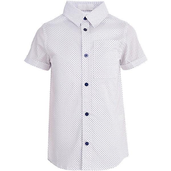 Сорочка Button Blue для мальчикаБлузки и рубашки<br>Характеристики товара:<br><br>• цвет: белый<br>• состав ткани: 98% хлопок, 2% эластан<br>• сезон: лето<br>• застежка: пуговицы<br>• короткие рукава<br>• страна бренда: Россия<br><br>Белая сорочка для ребенка от популярного бренда Button Blue выполнена в универсальном цвете. Сорочка для детей удобно застегивается на пуговицы. Такая детская рубашка с коротким рукавом сделана из натурального хлопка, который не вызывает аллергии и прост в уходе. <br><br>Сорочку Button Blue (Баттон Блю) для мальчика можно купить в нашем интернет-магазине.<br>Ширина мм: 174; Глубина мм: 10; Высота мм: 169; Вес г: 157; Цвет: белый; Возраст от месяцев: 24; Возраст до месяцев: 36; Пол: Мужской; Возраст: Детский; Размер: 98,158,152,146,140,134,128,122,116,110,104; SKU: 7746372;