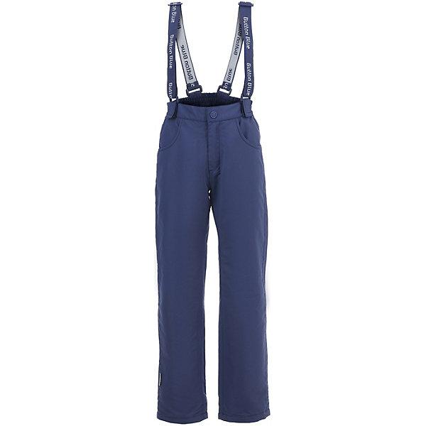 Комбинезон Button Blue для мальчикаВерхняя одежда<br>Брюки Button Blue для мальчика<br>Демисезонные брюки для мальчика из коллекции Active созданы для активного отдыха, но прекрасно подойдут и для ежедневного ношения. Их главное качество - удобный и модный дизайн, который покоряет практичностью и стилем. Модель изготовлена из мембранной ткани и оснащена флисовой подкладкой, дарящей дополнительное тепло. Чтобы удачно пополнить мальчику гардероб можно купить недорого детские брюки, рассчитанные на прохладную погоду, способные похвастать привлекательным внешним видом и актуальным в этом сезоне цветом.<br>Состав:<br>верх: 100% полиэстер,подкладка: 100% полиэстер(флис)<br>Ширина мм: 215; Глубина мм: 88; Высота мм: 191; Вес г: 336; Цвет: темно-синий; Возраст от месяцев: 24; Возраст до месяцев: 36; Пол: Мужской; Возраст: Детский; Размер: 98,158,152,146,140,134,128,122,116,110,104; SKU: 7747037;