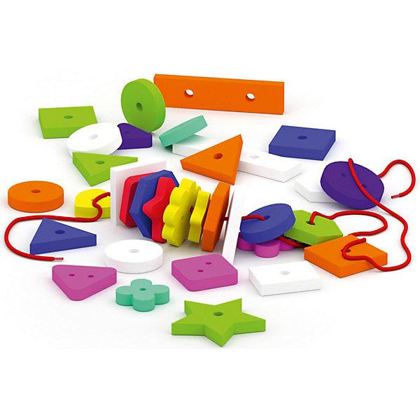 Фото - El`Basco Toys Шнуровка-россыпь Фигуры набор el basco 08 005 аква одевашка девочка