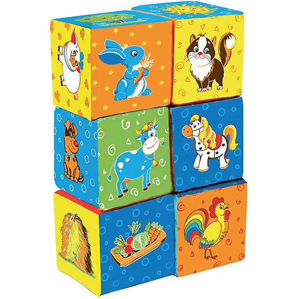 Первые кубики для малышей ФермаОбучающие игры<br>Характеристики:<br><br>• возраст: от 3 месяцев;<br>• материал: х/б ткань, поролон;<br>• количество кубиков: 6;<br>• размер упаковки: 8х16х33 см;<br>• вес упаковки: 110 гр.;<br>• страна бренда: Украина.<br><br>Первые кубики для малышей «Ферма» Macik сделаны из безопасных материалов специально для самых маленьких. Эти кубики можно кусать, кидать, мять в руках, что совсем не отразится на их форме.<br><br>На каждой стороне мягких кубиков есть красочное изображение, которое интересно изучать. Игра с этими кубиками развивает цветовосприятие, мелкую моторику и координацию движений. Кубики можно стирать.<br><br>Первые кубики для малышей «Ферма» можно купить в нашем интернет-магазине.<br>Ширина мм: 80; Глубина мм: 160; Высота мм: 330; Вес г: 110; Возраст от месяцев: 36; Возраст до месяцев: 2147483647; Пол: Унисекс; Возраст: Детский; SKU: 7748218;